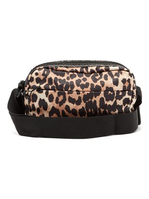 Ganni leopard-print technical cross-body bag