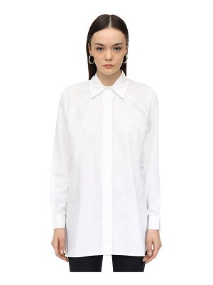Ganni Oversized cotton poplin shirt