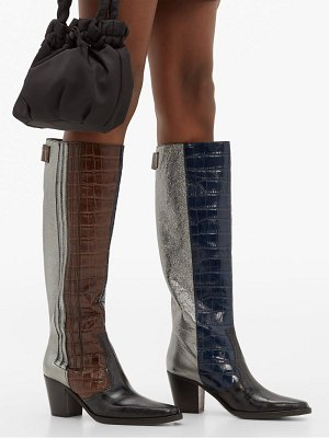 Ganni panelled leather western boots
