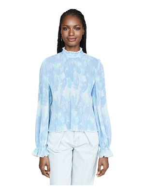Ganni pleated georgette blouse