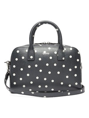 Ganni polka-dot leather cross-body bag