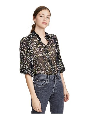 Ganni printed georgette blouse