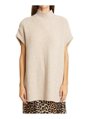 Ganni ribbed recycled wool blend sweater