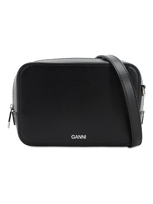 Ganni Smooth leather camera bag