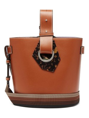 Ganni smooth-leather shoulder bag
