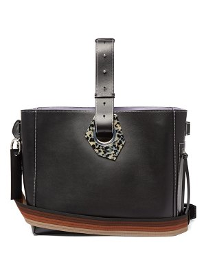 Ganni smooth-leather tote bag