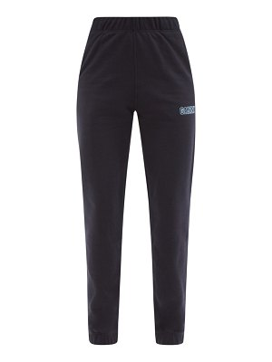 Ganni software organic cotton-blend track pants