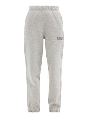 Ganni software recycled cotton-blend track pants