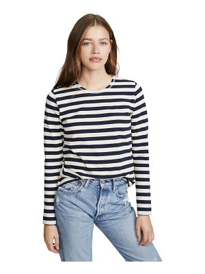 Ganni striped cotton jersey tee