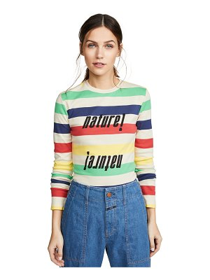 Ganni striped rib tee