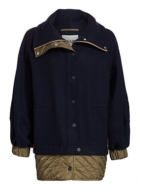 Ganni tech wool-blend jacket