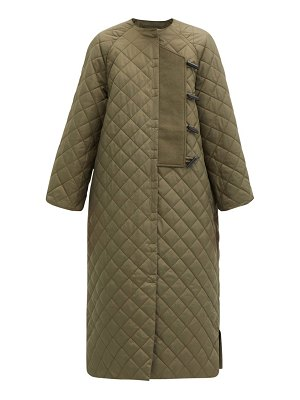 Ganni toggle-front quilted ripstop coat