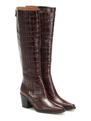 Ganni western knee-high leather boots