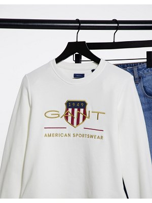 Gant sweatshirt with archive print in white