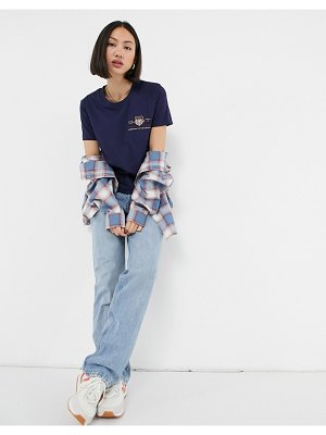 Gant t-shirt with archive print in navy-blue