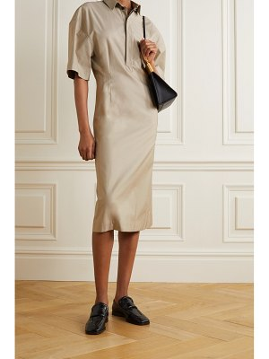 Gauchere safina cotton-poplin shirt dress