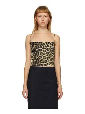 GAUGE81 beige and black leopard sakai tank top