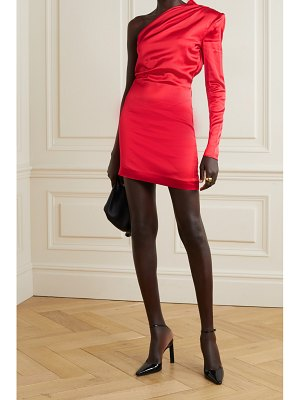 GAUGE81 charras one-sleeve draped satin mini dress