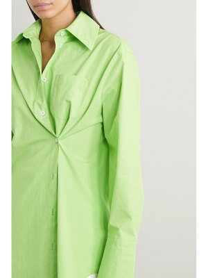 GAUGE81 florina asymmetric cotton-poplin shirt