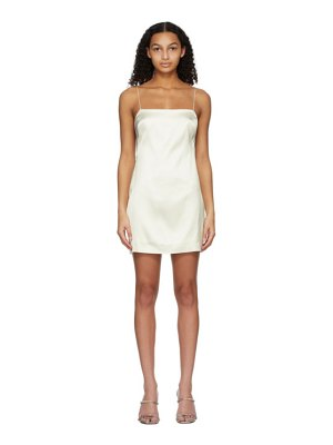 GAUGE81 off-white heavy satin bima dress