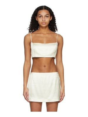 GAUGE81 off-white heavy satin java tank top