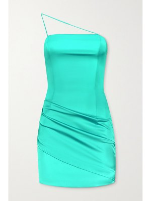 GAUGE81 pasto one-shoulder neon satin mini dress