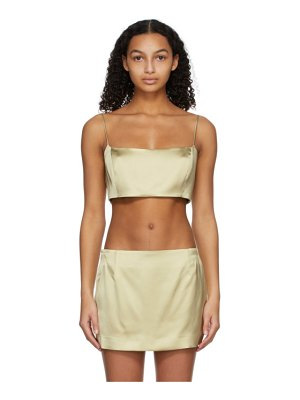 GAUGE81 taupe heavy satin java tank top