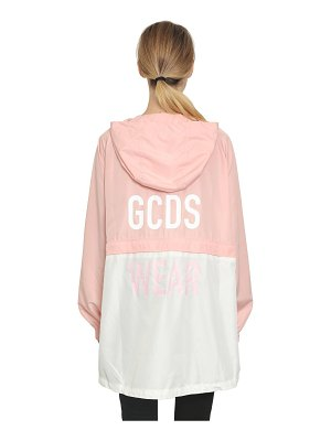 GCDS Hooded zip off anorak jacket
