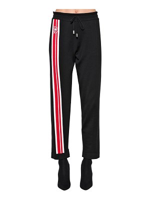 GCDS Logo wool blend sweatpants