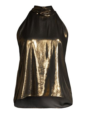 Generation Love gemma metallic halter top