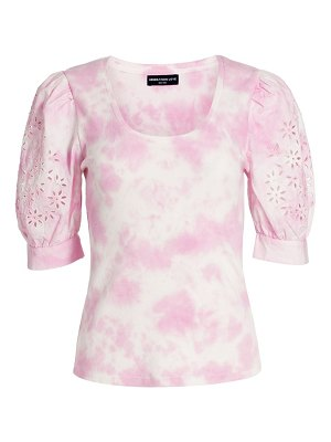 Generation Love liv embroidered puff-sleeve cotton top