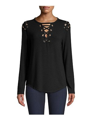 Generation Love valentine lace-up top