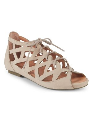Gentle Souls Brielle Lace-Up Leather Sandals