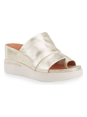 Gentle Souls Gisele 65 Sporty Metallic Slides