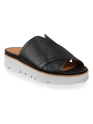 Gentle Souls Lavern X-Band Leather Slide Sandals