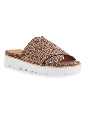 Gentle Souls Lavern X-Band Leopard Slide Sandals