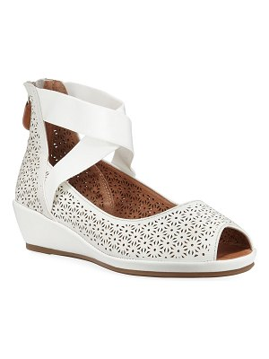 Gentle Souls Lisa Perforated Demi-Wedge Comfort Sandals