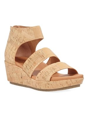 Gentle Souls Milena Cork Demi-Wedge Sandals