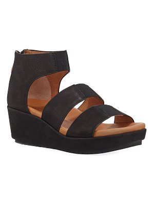 Gentle Souls Milena Leather Demi-Wedge Sandals