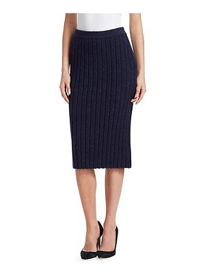 Gentry Portofino rib knit pencil skirt