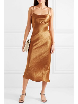 Georgia Alice crinkled-satin midi dress