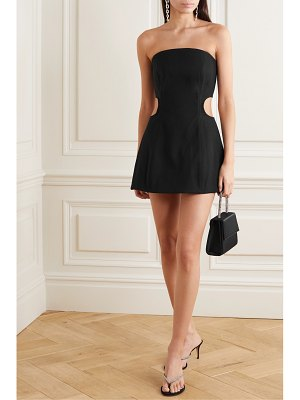 Georgia Alice lucia strapless cutout crepe mini dress