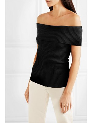 Georgia Alice otto off-the-shoulder ribbed-knit top