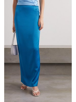 Georgia Alice satin maxi skirt