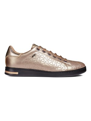 Geox D Jaysen Lace-Up Leather Sneakers
