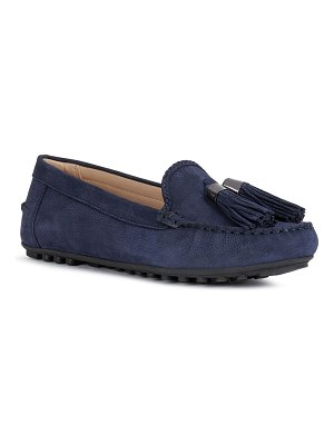 Geox Leather Tassel Driver Loafers