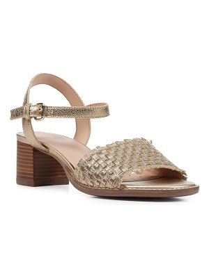 Geox Metallic Woven Ankle-Strap Sandals