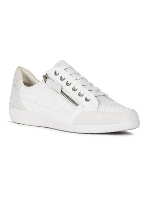 Geox Myria Mixed Leather Zip Sneakers