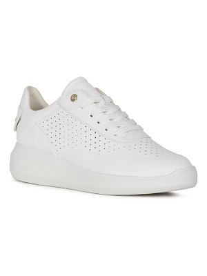 Geox Rubidia Perforated Leather Low-Top Sneakers