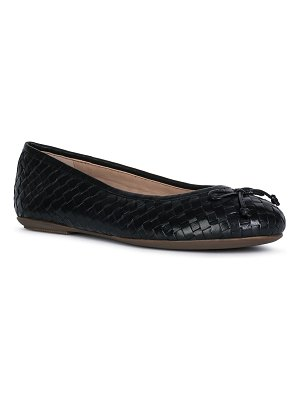 Geox Woven Leather Bow Ballerina Flats
